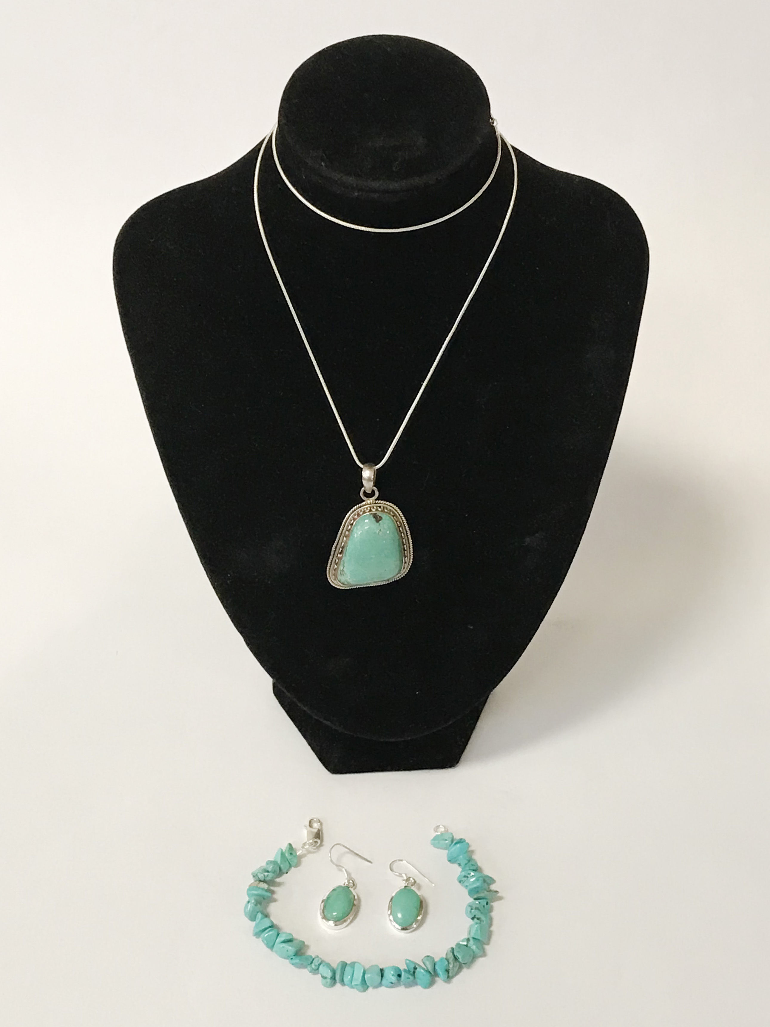 STERLING SILVER TURQUOISE JEWELLERY