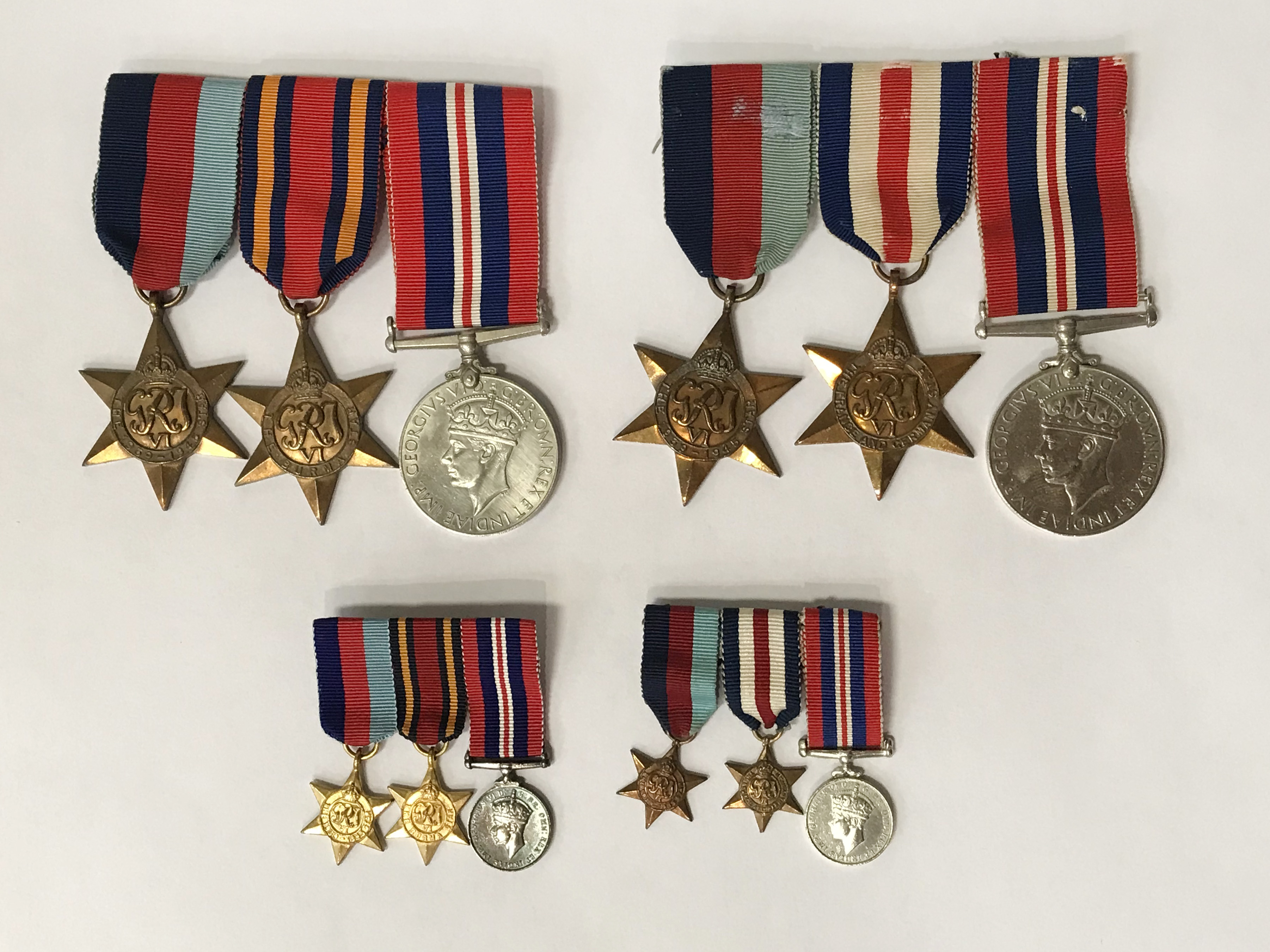 TWO SETS OF SERVICE MEDALS