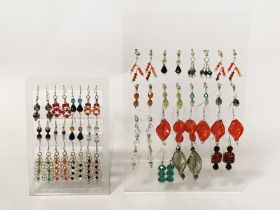 QTY OF SILVER EARRINGS - 26 PAIRS IN TOTAL