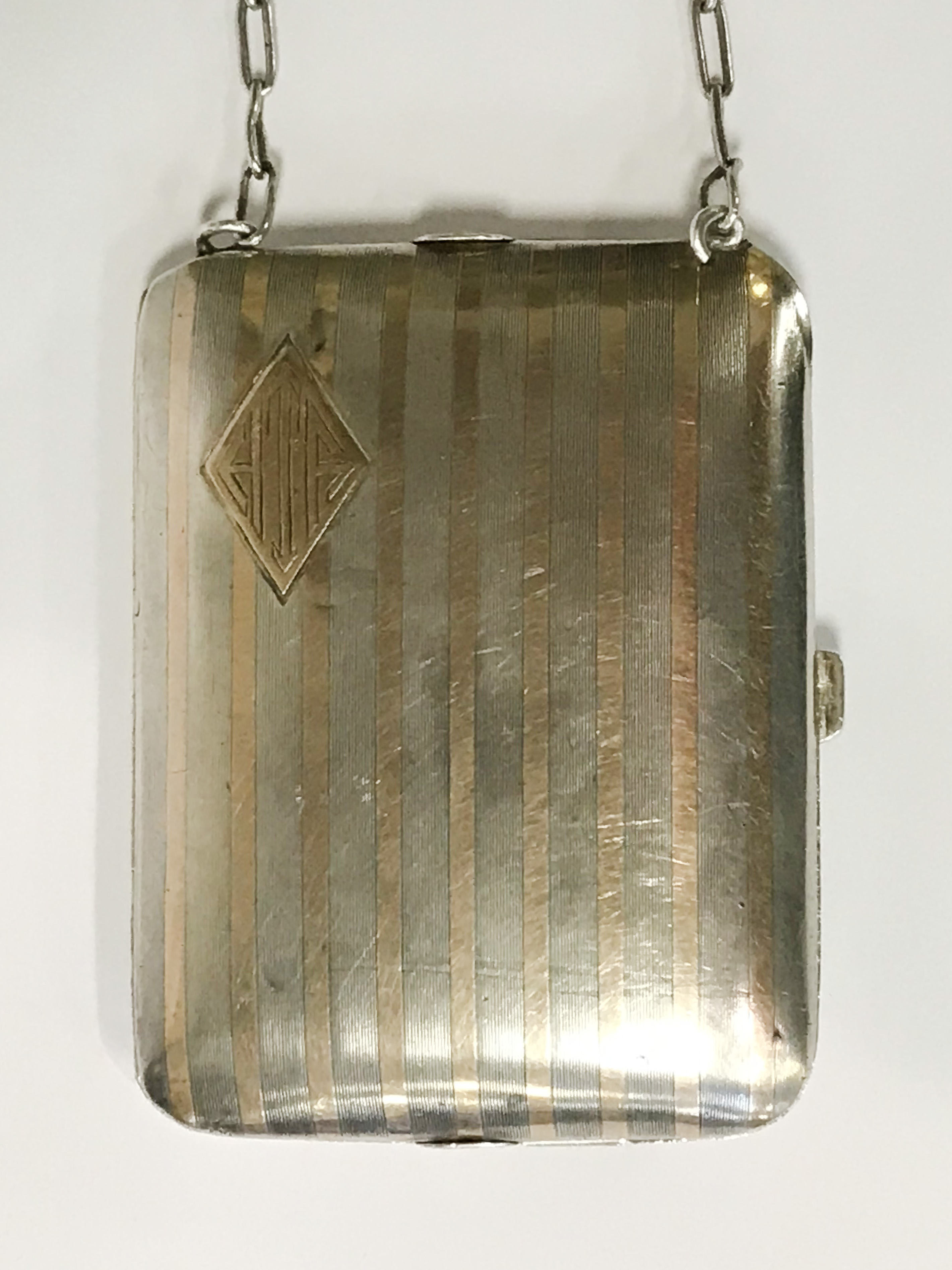 HM SILVER & GOLD INLAID COMPACT - 9CMS X 6.5CMS - Image 2 of 7