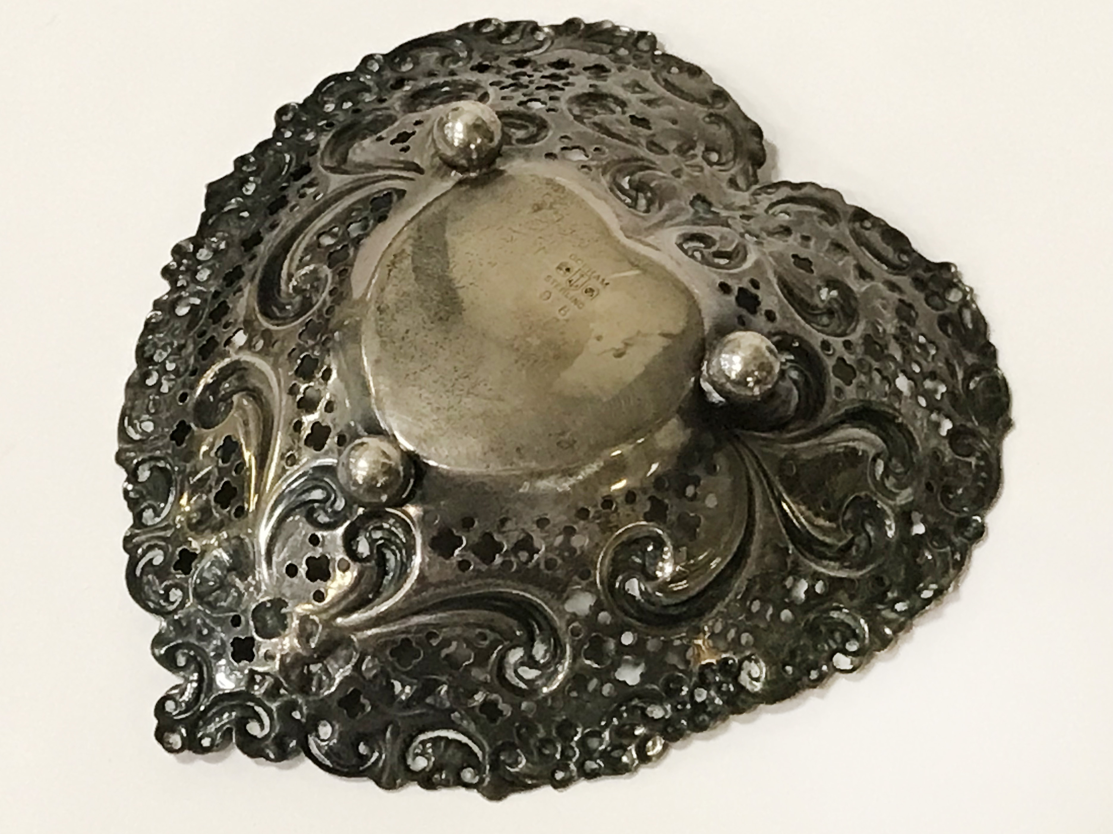GORHAM STERLING SILVER HEART DISH - 13CMS - Image 3 of 4