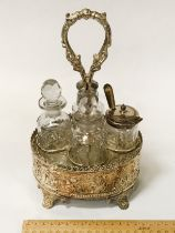 SILVER PLATED CONDIMENT SET