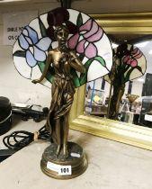 ART NOUVEAU STYLE TABLE LAMP - 40CMS