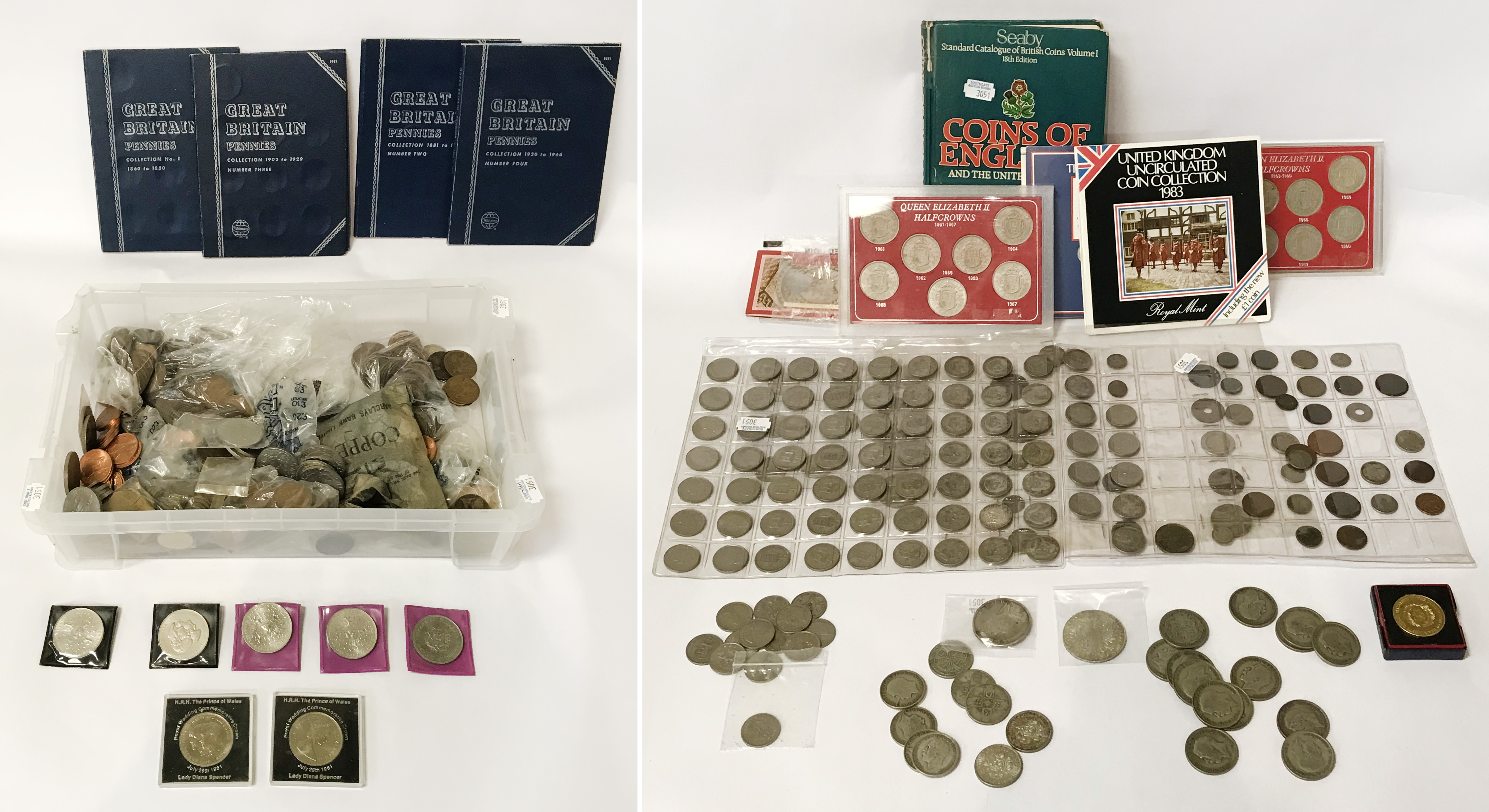 SELECTION OF VARIOUS COINS INCL. SILVER
