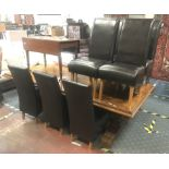 EXTENDING DINING TABLE & 8 CHAIRS