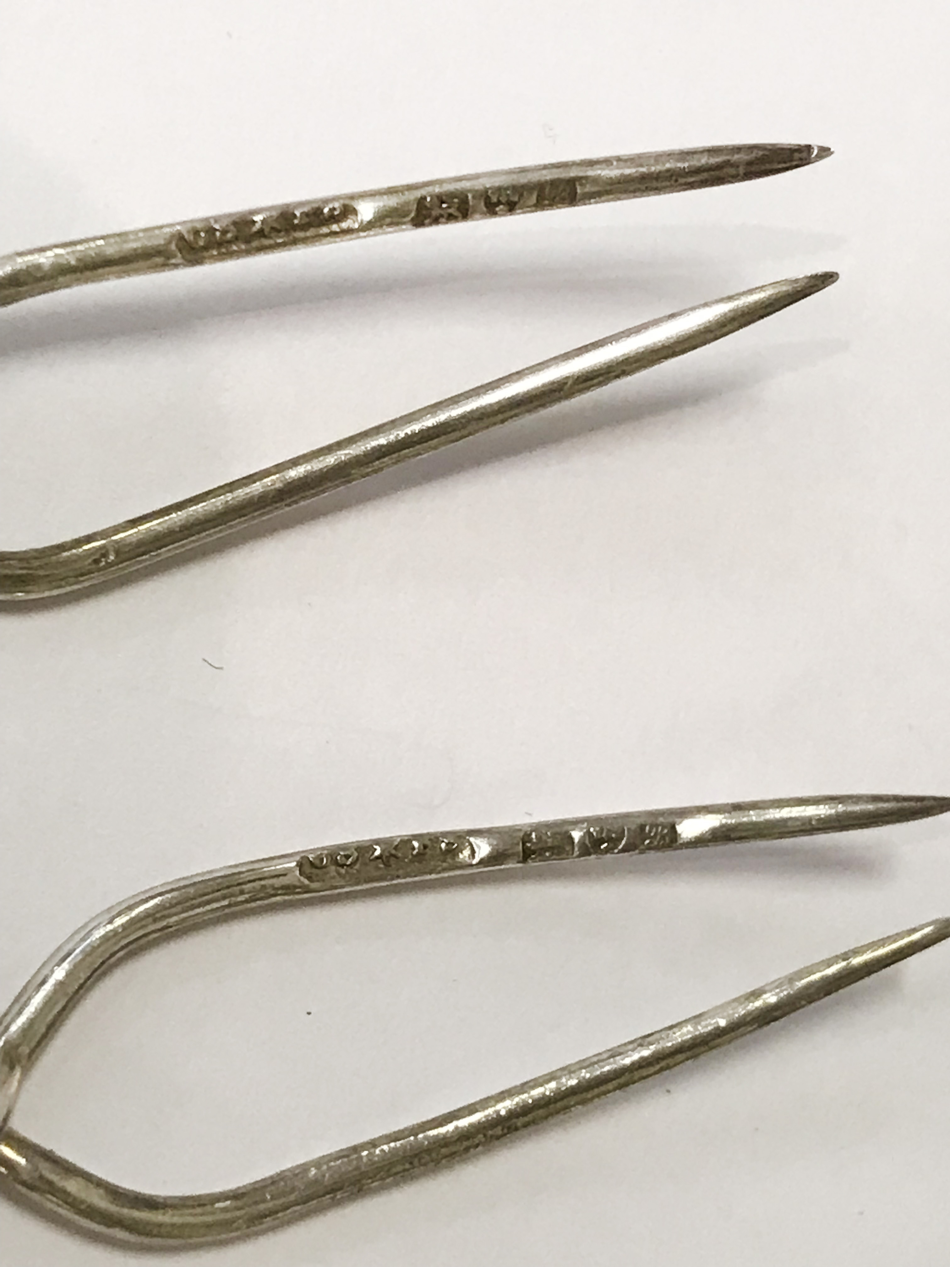 SIX HM SILVER OLIVE STICKS AND OTHER ITEMS - Image 2 of 3