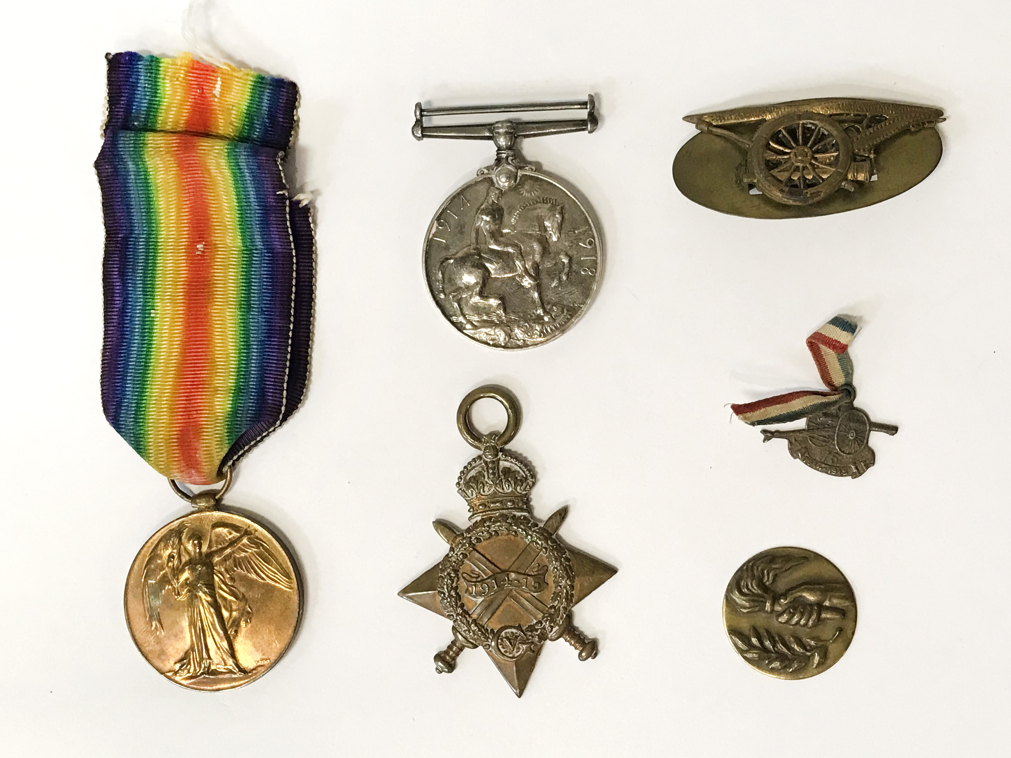 TWO WW2 MEDALS & OTHER ITEMS SGT J.D WATSON RA 1001087