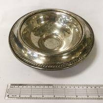 LARGE STERLING SILVER BOWL - 22 CMS - 12 OZS
