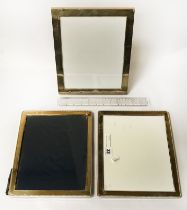 3 HM SILVER PHOTO FRAMES - APPROX 28 CMS X 24 CMS