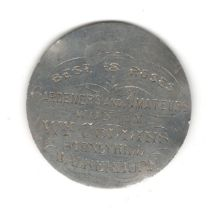 1885 WHITE METAL MEDAL FOR MIDLOTHIAN ROSE AND PANSY SOCIETY