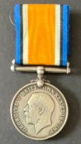 WW1 BRITISH WAR MEDAL 8468 GNR E. DAVENPORT R.A.