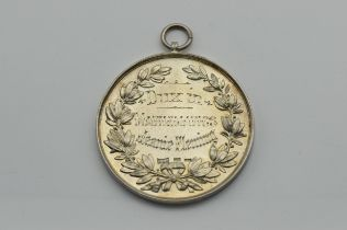 HALLMARKED SILVER MEDAL DUX IN MATHEMATICS FOR HARRIS ACADEMY 1917-18