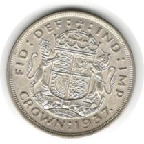 LARGE SILVER COIN 1937 KING GEORGE VI