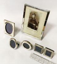 7 HM SILVER FRAMES - LARGEST 20 X 15CM APPROX.