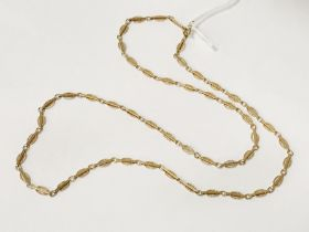 9CT GOLD CHAIN 27 INCHES LONG - 16.5 GRAMS