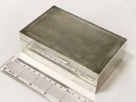 HM SILVER CIGARETTE BOX - 14CM X 18.5CM