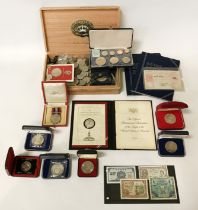 COINS & BANKNOTES - SOME SILVER
