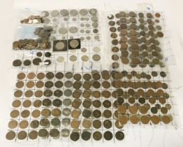 QTY OF BRITISH COINS - 19THC ONWARDS INCLUDING SOME SILVER