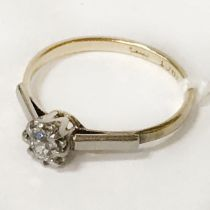 18 CT. GOLD DIAMOND RING - SIZE J