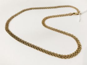 9CT GOLD CHAIN - 16 INCHES LONG - 9.3 GRAMS APPROX