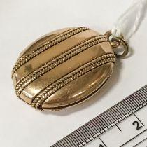 HIGH CARAT GOLD LOCKET - POSSIBLY 18CT - 10.5 grams