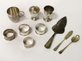 10 ITEMS OF SILVER