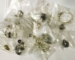 COSTUME JEWELLERY MAINLY SILVER