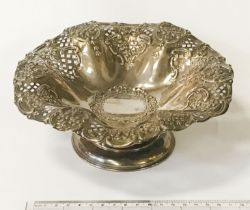 H/M SILVER COMPORT - APPROX. 9 ozs -DIAMETER 20cms