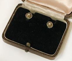9 CT. GOLD DIAMOND STUD EARRINGS