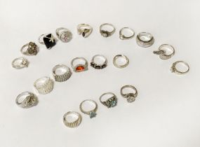 QTY OF SILVER RINGS - ALL SILVER - ALL NEW