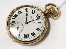 GOLD PLATED POCKET WATCH BY CAMERER CUSS