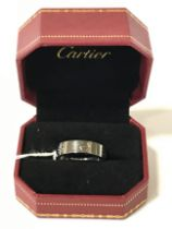 WITHDRAWN! 18CT WHITE GOLD RING - SIZE S