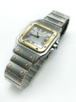 VINTAGE CARTIER OR750/ACIER WATCH WITH PAPERS IN WORKING CONDITION