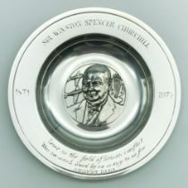 LIMITED EDITION OF HALLMARKED STERLING SILVER CHURCHILL PLATE