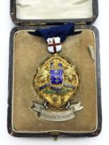 THE WORSHIPFUL COMPANY OF BASKETMAKERS HALLMARKED SILVER JEWEL / MEDAL