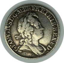1723 SIXPENCE SILVER COIN GEORGE I