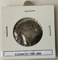 ELIZABETH I SILVER SIXPENCE HAMMERED COIN
