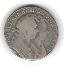ENGLAND WILLIAM AND MARY COIN 1689