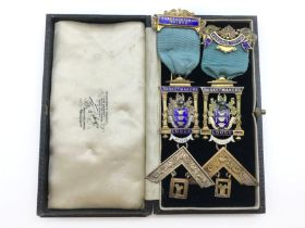 TWO HALLMARKED SILVER JEWELS / MEDALS OF THE BASKETMAKERS LODGE