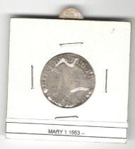 SCOTLAND HAMMERED COIN MARY I (1542-1567)