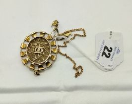 14CT GOLD PENDANT & OTHER ITEMS