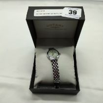 ROTARY MOTHER OF PEARL DIAL LADIES WATCH - BOXED