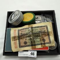 QTY OF COINS & BANKNOTES