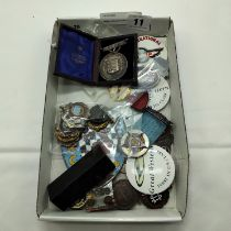 SMALL COLLECTION BADGES INCL. MASONIC & RAILWAY RELATED