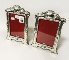 PAIR OF ORNATE HM SILVER PHOTO FRAMES