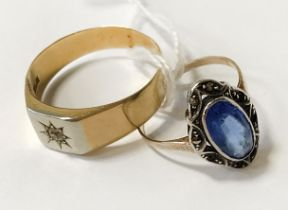 18CT GOLD RING & 1 OTHER