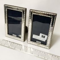 PAIR HM SILVER GOTHIC STYLE FRAMES