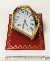 CARTIER ROMANE CLOCK WITH PAPERS