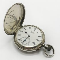 HM SILVER POCKET WATCH - MILITARY