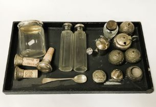 QTY OF SILVER & GLASS ITEMS